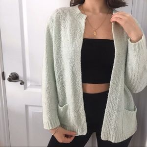 Vintage mint green cozy sweater